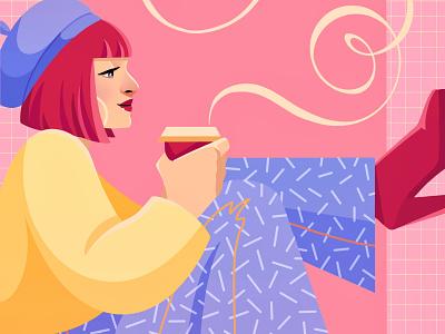 Coffee Break art editorial illustration design drawing procreateapp painting digital art digitalart procreate illustration