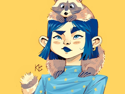 Raccoon animals drawing procreateapp painting digital art digitalart procreate illustration