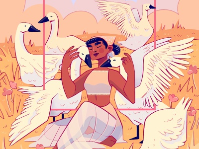Goose design drawing procreateapp painting digital art digitalart procreate illustration