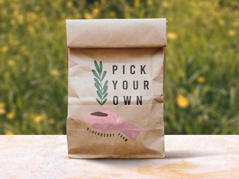 Blackberry Farm PYO sustainability sustainable bag design packaging design packaging print print design logo design logo graphic design design branding brand design