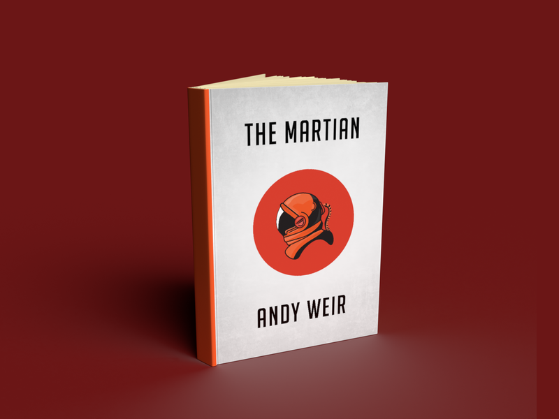 The Martian Mock Book Cover mockup space astronaut mars martian cover book design illustration dimension adobedimension adobe 3d