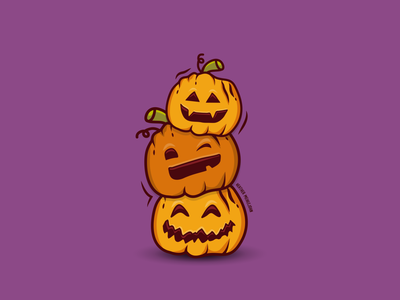 A Pile of Pumpkin Pals spooky spooky season carving seasonal season autumn festive holiday pumpkins pumpkin jackolantern halloween design illustration dribbbleweeklywarmup