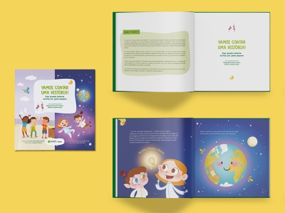 Let's Tell a Story editorial design layout design graphic design childrens book book editorial