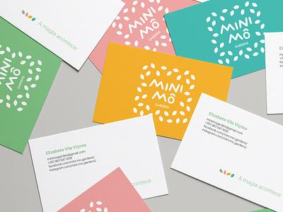 Visual Identity for Mini Mô Gardens business card design business card logo gardens brand design brand identity brand visual identity