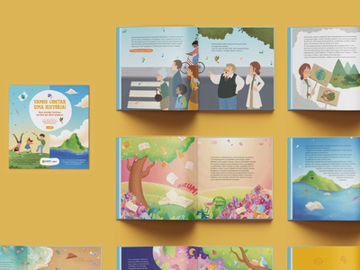 Children's Book: Let's Tell a Story — 2nd edition graphic project layout design graphic design climate changes nature illustration print design typesetting childrens book book editorial design editorial