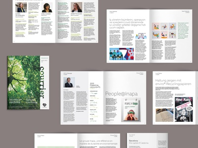 Courrier #23 — Print newsletter paper business print typesetting layout design corporate business magazine graphic design editorial design editorial newsletter