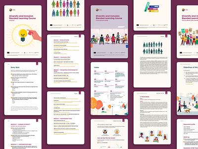 Diversity & Inclusion Booklet inclusion diversity course book digitaldesign printdesign ebook graphic design book layout design editorial design editorial booklet