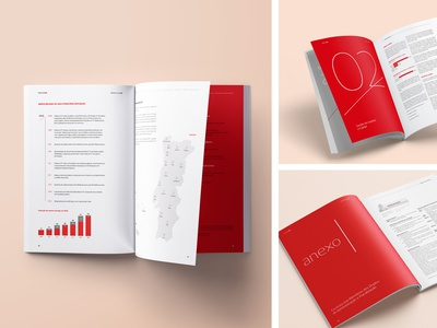 Banco CTT's Annual Report from 2016 minimalist report red and white graphic project business report typesetting layout design graphic design editorial design editorial bank annual report annual report