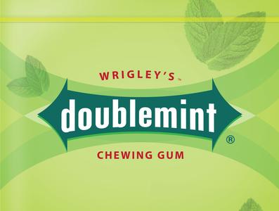 Doublemint (Lowercase) logo design rebranding identity vector flatdesign package design packaging branding logo conceptual design