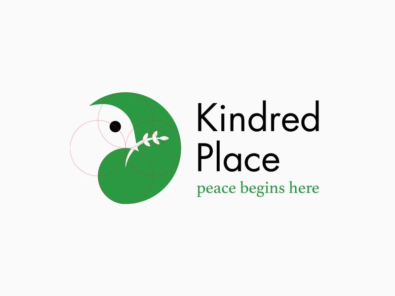 Kindred Place Logo graphic design flatdesign illustrator logo branding logo design identity vector design animals