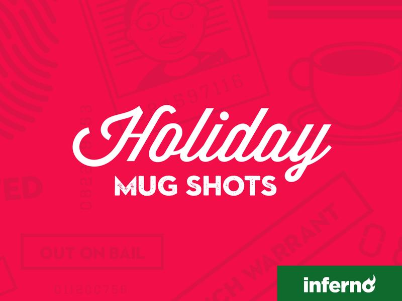 Holiday Mug Shots website design christmas holiday design website illustrator illustration character design flatdesign vector