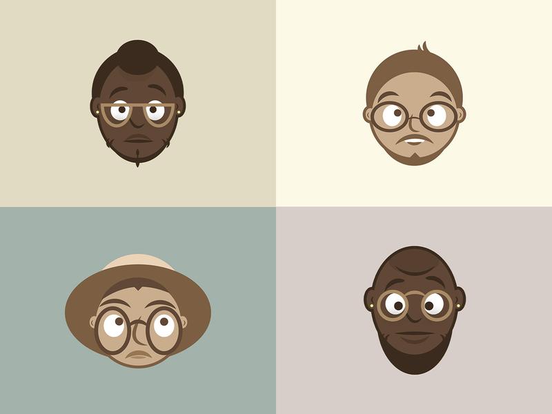 Everyday People v.2 vector illustrations doodle people illustration adobe illustrator illustrator graphic design identity character illustration design flatdesign vector