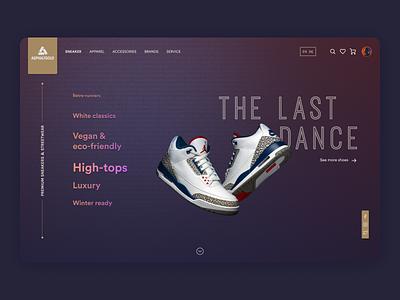 Asphaltgold shop photoshop practice figma shoes web ui ux first design first post first shot firstshot