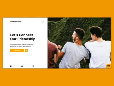 Friendship friendship webdesign ux design uidesign ux ui bootstrap javascript css html