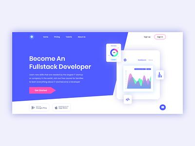 Fullstack Developer - Landing Page fullstack developer web webdesign ux design uidesign javascript css html ux ui