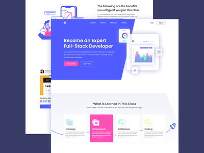 Fullstack Developer - Landing Page developer ux design uidesign ux ui webdesign web javascript css html