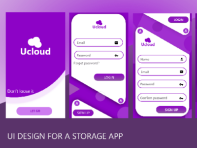 Ucloud project ui xd adobe