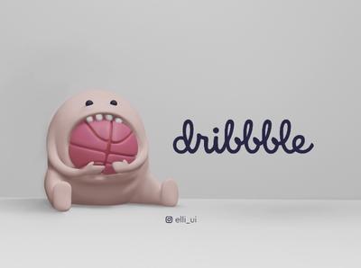 Dribbble monster 💕 3dblender blender3d blender3dart blender character design characterdesign character uidesign ui  ux design 3ddesign 3d art 3d dribbble