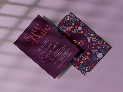 Marriage Invitation Card Design invitation card typography vector graphic vector illustration design adobe illustrator adobe