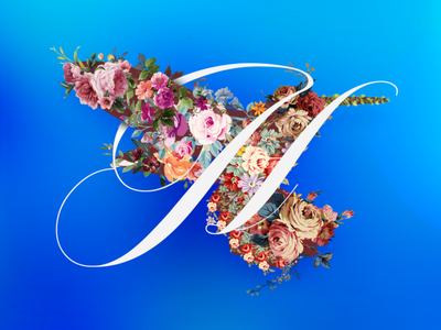 Floral Collage artwork art photoshop typography gradients dribbble graphic design design adobe