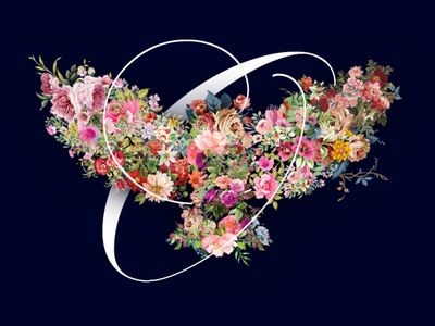 Floral Collage photoshop dribbble typography gradients graphic design design adobe