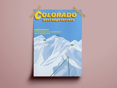 Poster For Ski Lodge poster design poster art poster illustrator illustration branding art