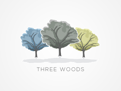 Three-Wood Concept Logo