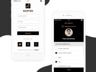 Barter App Design