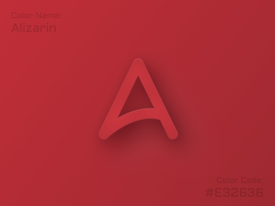 Alphabet A - color