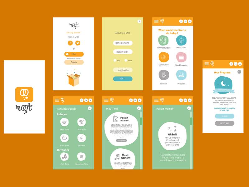 Mobile App Design - Root branding ux app logo design mobile app mobile app design icon ui ui  ux design
