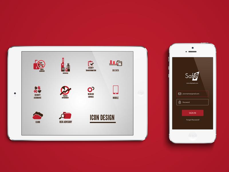UI / Icon design brand identity branding mobile app design design app ui vector logo design