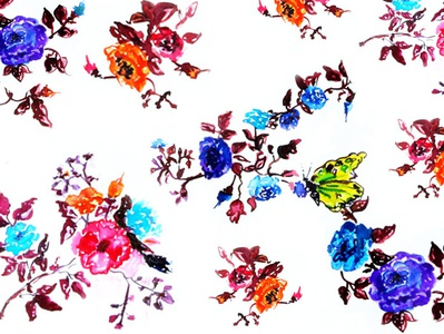 Floral Bliss water colors illustration