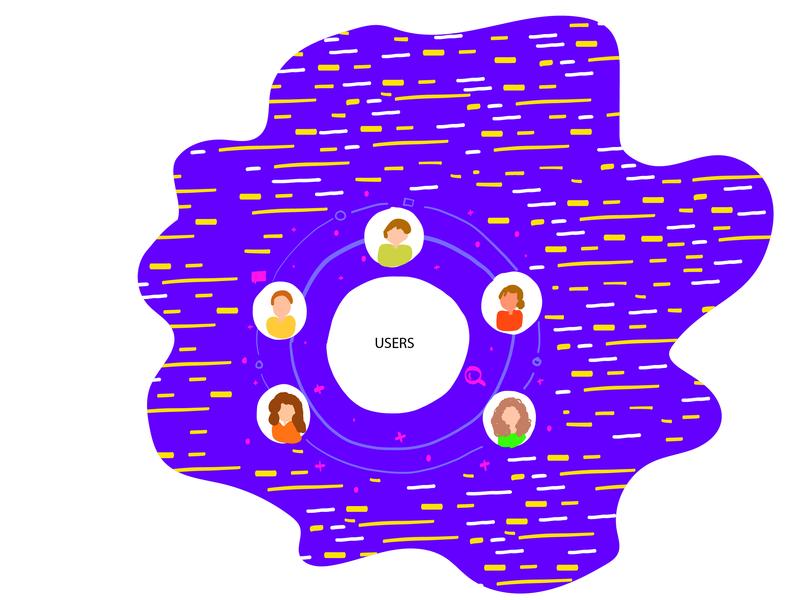 Illustration - Users app vector design web animation ux ui icon illustration