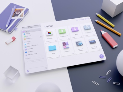 All your files 📑 in one app 🚀 files neumorphic design neumorphism ui neumorphism blender 3d 3d artwork 3d art illustration 3d blendercycles blender3d blender actions productivity ipad iphone ios app documents readdle