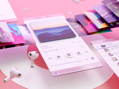 Music 🎧 is life itself ❤️ music player 3d modeling neumorphism neumorphism ui neumorphic blender3dart blendercycles 3d art blender3d 3d ui 3d blender actions productivity ipad iphone ios app documents readdle