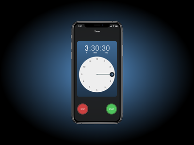 Timer App daily ui android ios flutter timer 014 dailyui