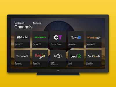 TV app television tv app 025 dailyui