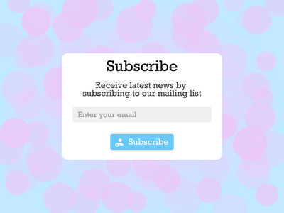 Subscribe form subscribe 026 dailyui