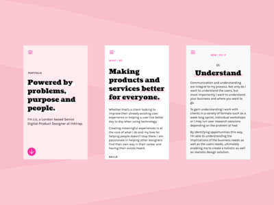 Pink Portfolio