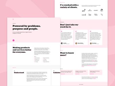 Pink Portfolio Desktop
