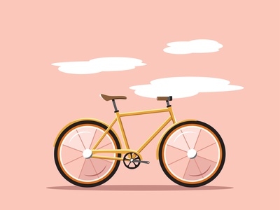 Simple Bike Illustration travel road bike illustration