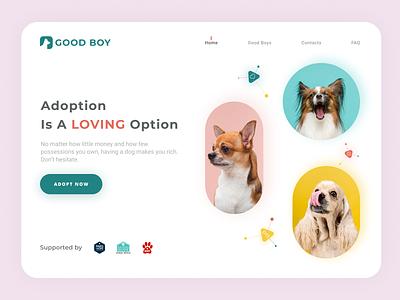 Dog adoption web-design design