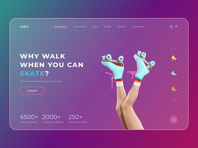 Rollerskates online-shop ux ui design