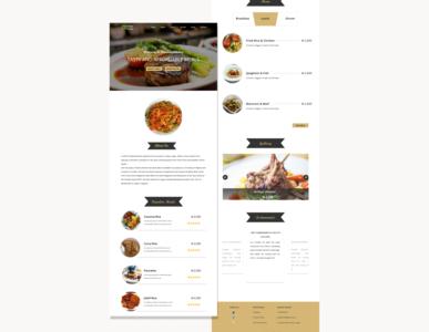 Restaurant Landing Page website design food landing page restaurant