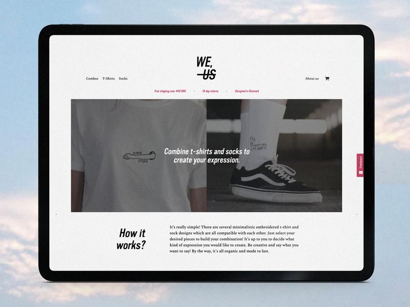 WE, NOT US minimalist fashion copenhagen visual identity debut minimal web ux ui content strategy fashion brand branding