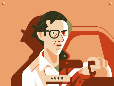 Arnie from Christine car editorial adobe illustrator horror design movie character magazine flat geometric illustration