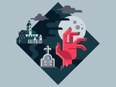 In case of Epidemic - Avoid visiting cemeteries walking rule skyline dead epidemic car horror zombie