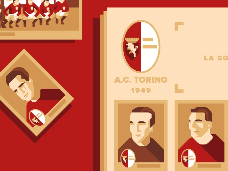 La testata di Z - Scampati al fato illustration geometric flat anniversary grande torino magazine soccer football tragedy disaster air superga