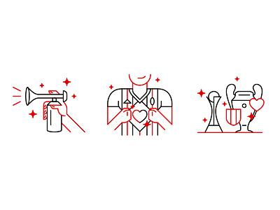 AC Milan - Website illustrations icon trumpet cup supporter league website geometric flat illustration soccer football milan
