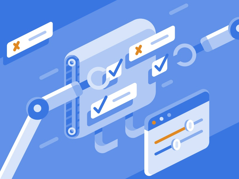 AWS Config config check academy amazon aws computing cloud isometric geometric flat icon illustration